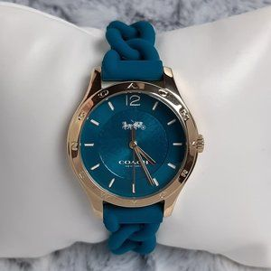 Coach Maddy Watch w/Braided Turquoise strap